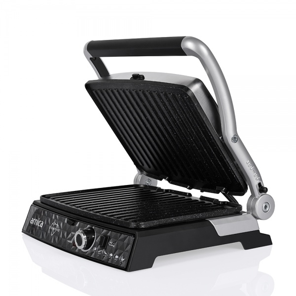 Arnica Diamond Granit Izgaralı Tost Makinesi İnox