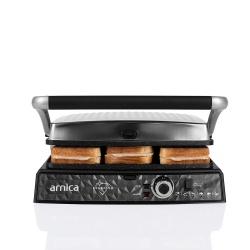 Arnica Diamond Granit Izgaralı Tost Makinesi İnox - Thumbnail