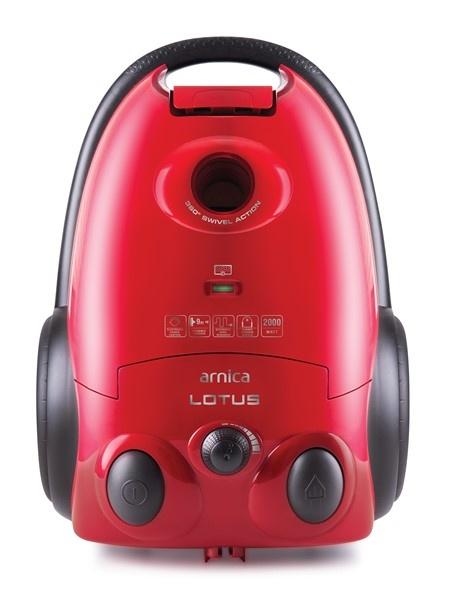Arnica Lotus ET14111 Toz Torbalı Elektrikli Süpürge Kırmızı