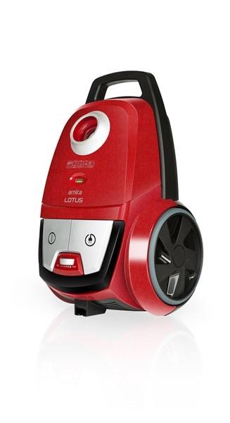 Arnica Lotus Turbo Toz Torbalı Elektrikli Süpürge Kırmızı