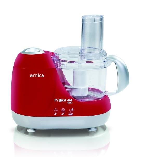 Arnica Prokit 444 Mini Mutfak Robotu Kırmızı